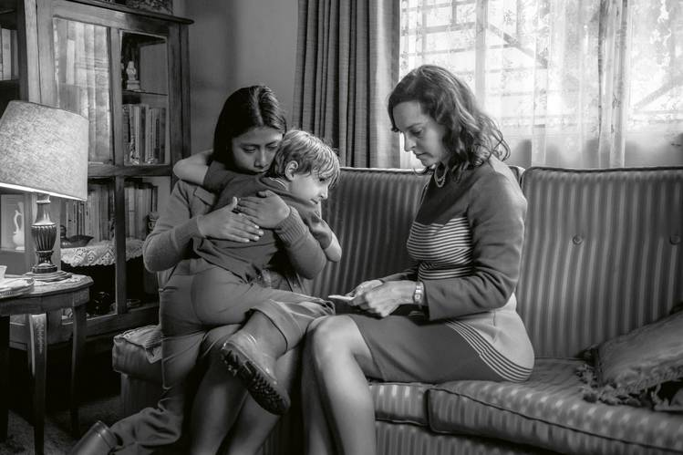 Yalitza Aparicio, Marco Graf and Marina De Tavira in 'Roma,' one of this year's best-picture nominees.
