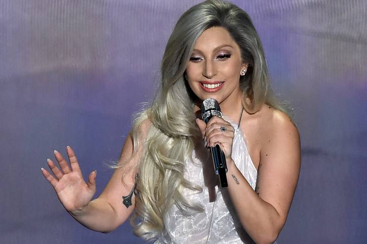 Lady Gaga performs during the 87th Academy Awards in 2015.