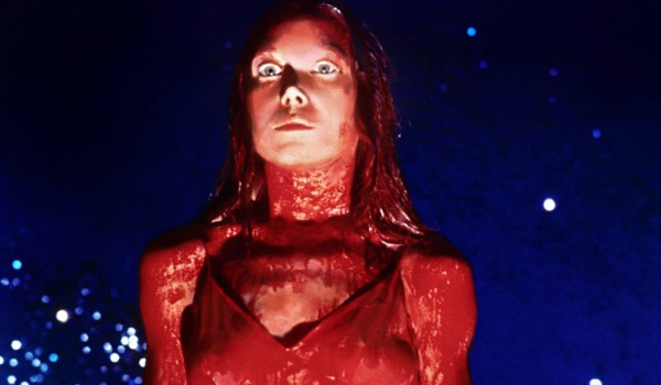 Carrie Sissy Spacek stands drenched in blood at the prom