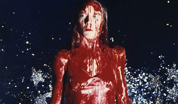Carrie drenched in blood at the prom