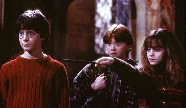 Hermione's big hair in Harry Potter and the Sorcerer's Stone