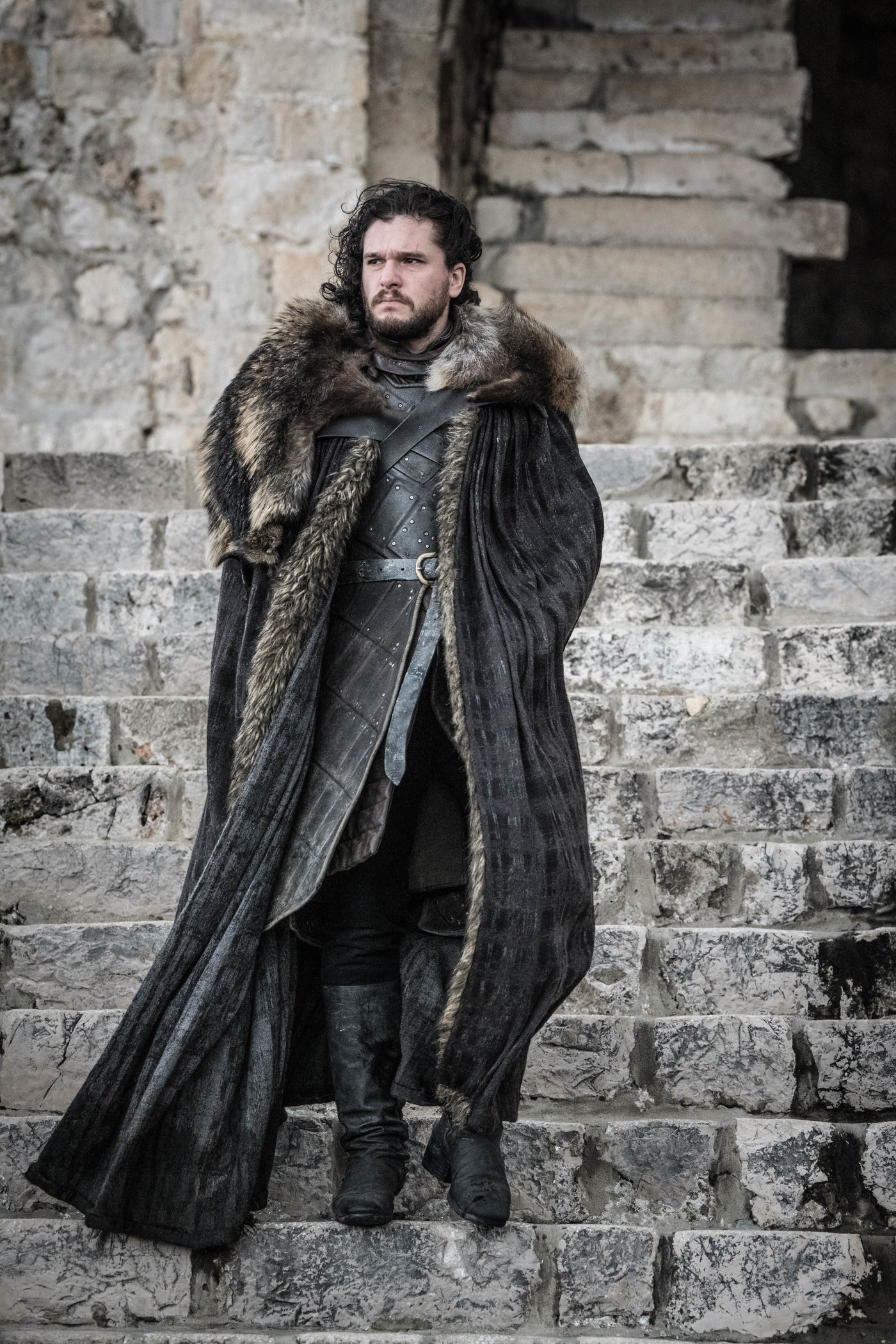 Jon Snow in the final episode of Game of Thrones.