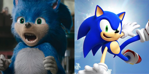 Sonic in the movie versus Sonic in the video game