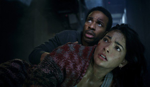 Battle At Big Rock André Holland and Natalie Martinez full of fear