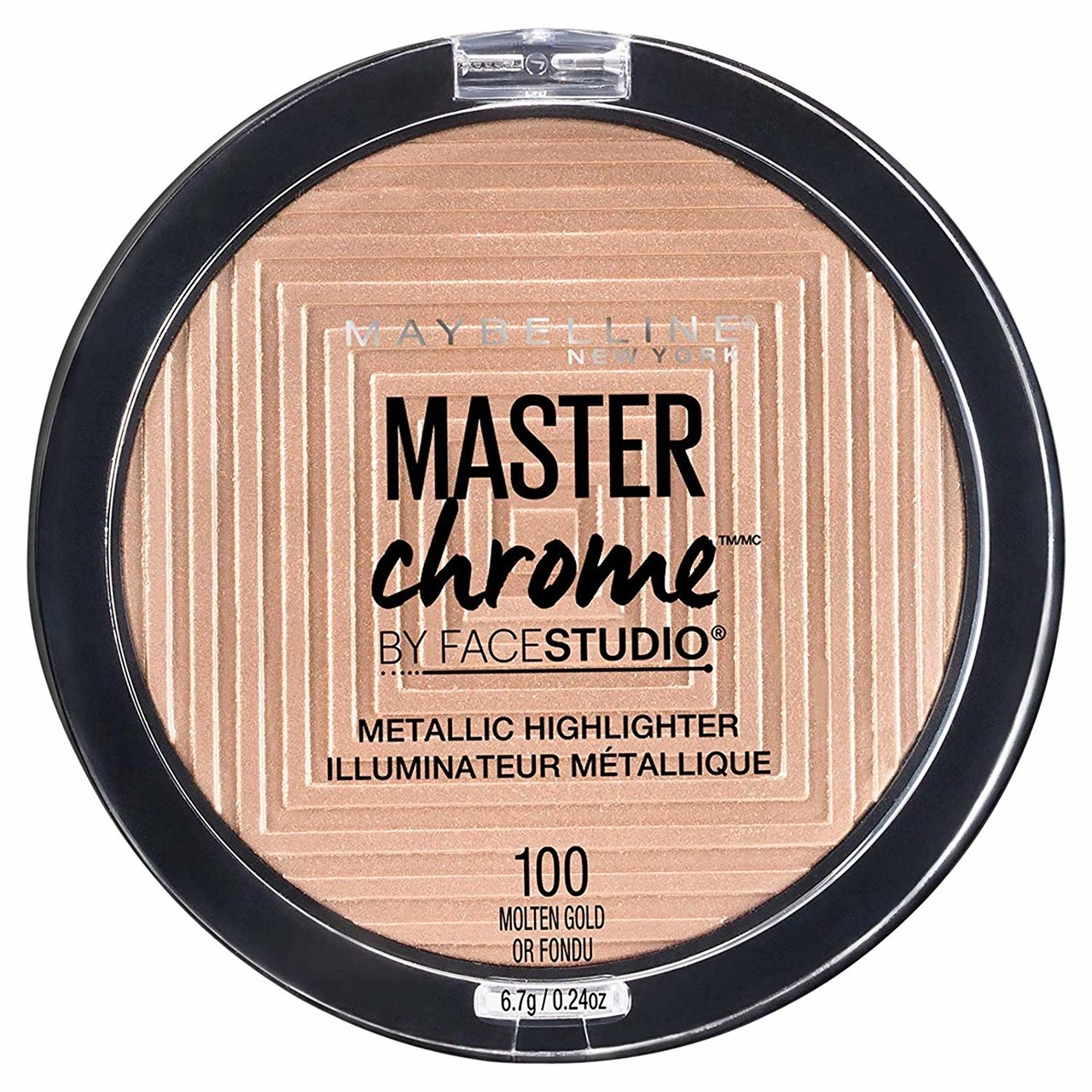 Maybelline FaceStudio Master Chrome Metallic Highlighter in Molten GoldThis image may contain Light