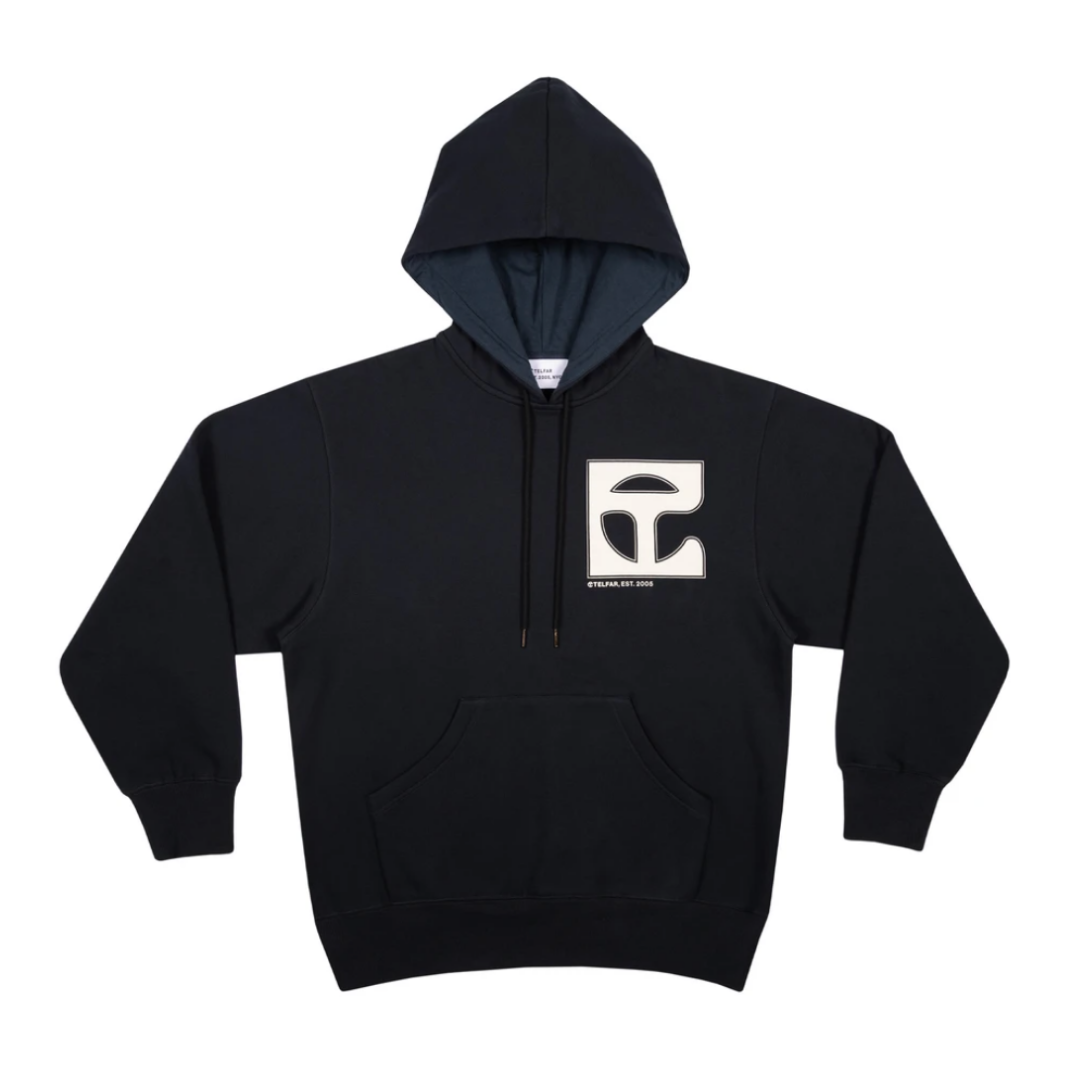 Oversized heavyweight hoodie with our signature monogram print on chest